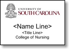 Nursing Nametag, White