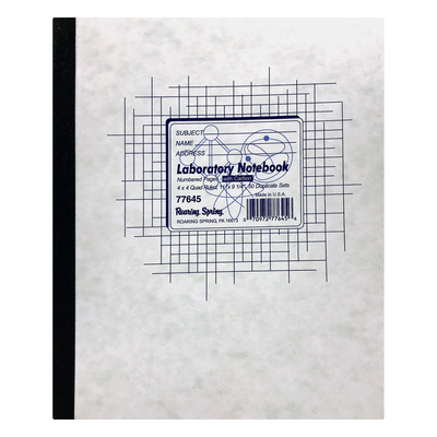 Roaring Spring Side Bound Lab Notebook, 11 x 9 14, 50 sets, wCarbon