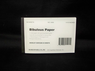 Bibulous Paper Booklet
