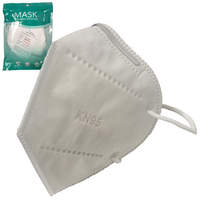 5 Pk Protecyobr Face Mask. 4 Layer Non Woven fabric stretchable  headband. FDA Cert.