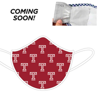 Coming soon.  3 Ply Soft, comfortable  school spirit face mask.  Comes with a replaceable filter.