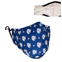 School Spirit 100% cotton, 3 ply Face Mask.  Mask is soft, comfortable, washable and reuseable.