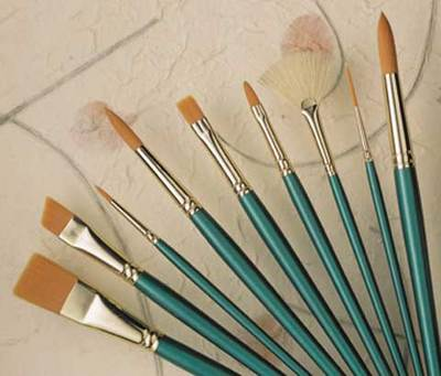 Princeton Art & Brush Co. Synthetic Watercolor Brushes Rounds 2