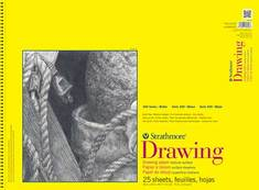Strathmore Spiral Bound Drawing Paper Pad, 300 Series, 25 Sheets (11 x 14)