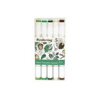 Alcohol Marker, Forest, Set of 5