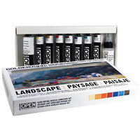 Golden OPEN SlowDrying Acrylics Landscape Set, 9 Pieces