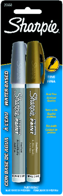 Sharpie Sharpie Poster Paint Markers Sets Medium Point Gold & Silver Set