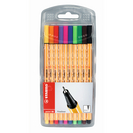 STABILO Point 88 Pen Wallet Set, 10Color