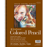 Strathmore Colored Pencil Pad, 400 Series, 9 x 12