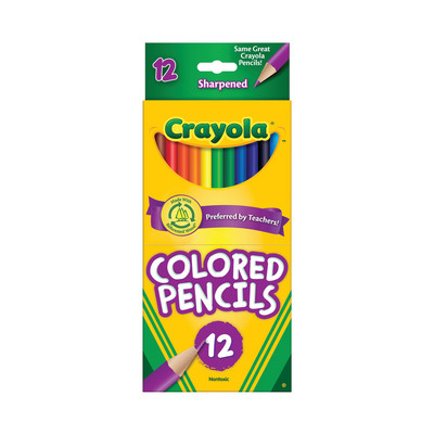 Crayola Colored Pencil Set, 12Colors