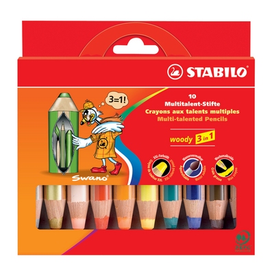 WOODY SET OF 10 W  SHARPENER