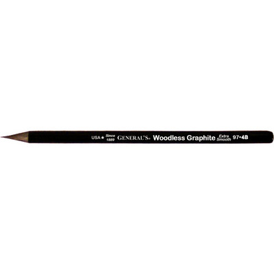 General Pencil Woodless Graphite, 4B