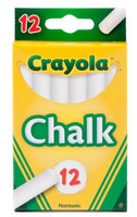 Crayola Chalk White, 12 Count