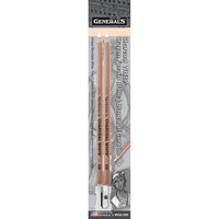 General Pencil Charcoal White Pencil Set, 2Pack