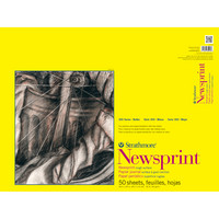 Strathmore Newsprint Paper Pad, 300 Series, Rough, 18 x 24, 50 Sheets