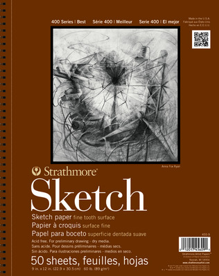 Strathmore Sketch Paper Pad, 400 Series, 100 Sheets (11 x 14)