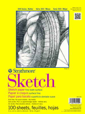 Strathmore Sketch Paper Pad 300 Series TapeBound 18 x 24