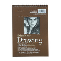 Strathmore Drawing Paper Pad, Medium Surface, 6 x 8