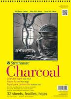 Strathmore Spiral Bound Charcoal Paper Pad, 300 Series, 24 Sheets (18 x 24)