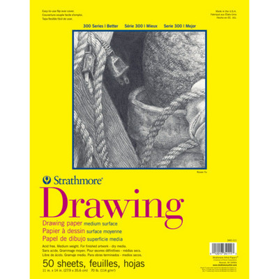Strathmore Drawing Paper Pad, 300 Series, 20 Sheets, 11 x 14