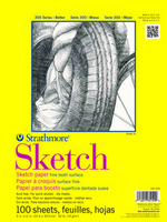 Strathmore Tape Bound Sketch Paper Pad, 300 Series (14 x 17)