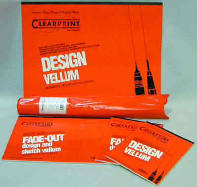 Clearprint Design and Sketch Pads Unprinted 812 x 11