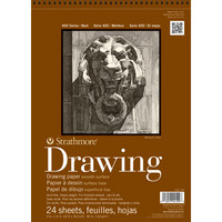 Strathmore Drawing Paper Pad, 400 Series, Smooth Surface, 9 x 12