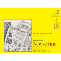 Strathmore Newsprint Paper Pad, 300 Series, Smooth, 18 x 24