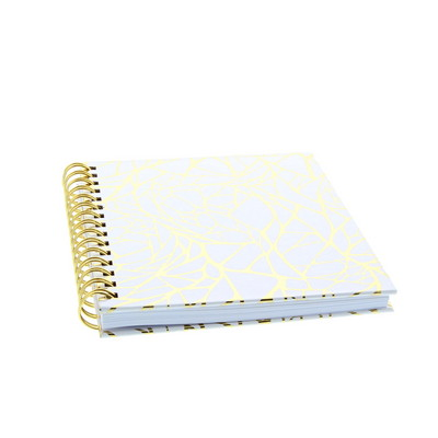 LTD Journal GOLD WEB 6X8 WHITE with dot grid paper