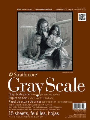 Strathmore Gray Scale Paper Pads (9 x 12)