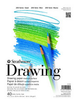 "Strathmore Student Series Drawing Pads 11"" x 14""  Tape-Bound, 40 Shts./Pad"