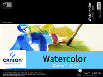 Canson Montval Watercolor Blocks, Field Sketch Books & Pads TapeBound Pads (12 Sheets) 15 x 20