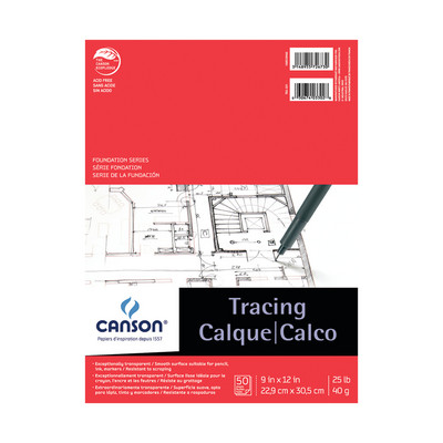 Canson Foundation Series Tracing Pad 9 x 12