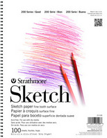 "Strathmore Student Sketch Pads 11"" x 14""  Wire-Bound"