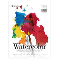 Strathmore Watercolor Paper Pad 200 Series 9 x 12 Tape Bound