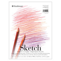 Strathmore Sketch Paper Pad, 200 Series, 9 x 12, TapeBound