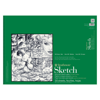 Strathmore Sketch Paper Pad 400 Series Recycled 18 x 24