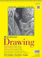 Strathmore Spiral Bound Drawing Paper Pad, 300 Series, 50 Sheets (14 x 17)