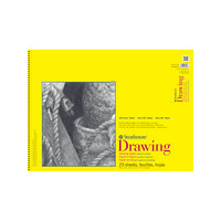 Strathmore Drawing Paper Pad, 300 Series, 25 Sheets, 18 x 24, Spiral Bound
