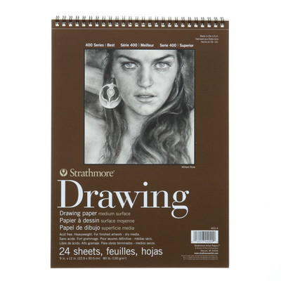 Strathmore Drawing Paper Pad, Medium Surface, 9 x 12
