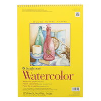 Strathmore Watercolor Paper Pad, 300 Series, 11 x 15, TapeBound
