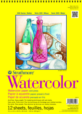 Strathmore Spiral Bound Watercolor Paper Pad, 300 Series (18 x 24)