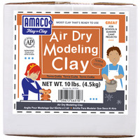 Amaco Air Dry Modeling Clay, 10 lbs., TerraCotta