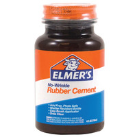 Elmers NoWrinkle Rubber Cement, 4 oz.