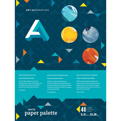 Art Alternatives White Paper Palette Pad, 9 x 12