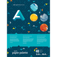Art Alternatives White Paper Palette Pad, 12 x 16