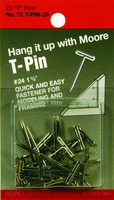 Moore Exhibition T Pins 1.5 20Pkg.