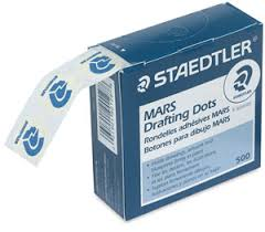 Staedtler Mars Repositionable Drafting Dots, 78, 500 Count