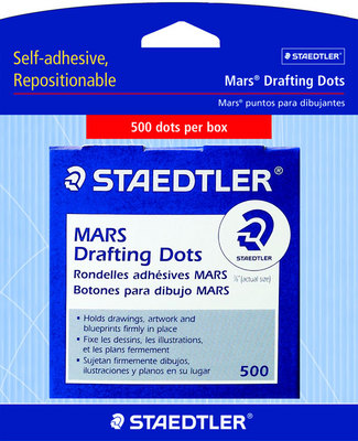 Drafting Dots Roll Of 500 Black