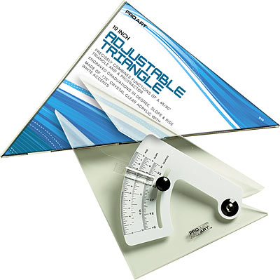 Pro Art Adjustable Triangle, 10 inch